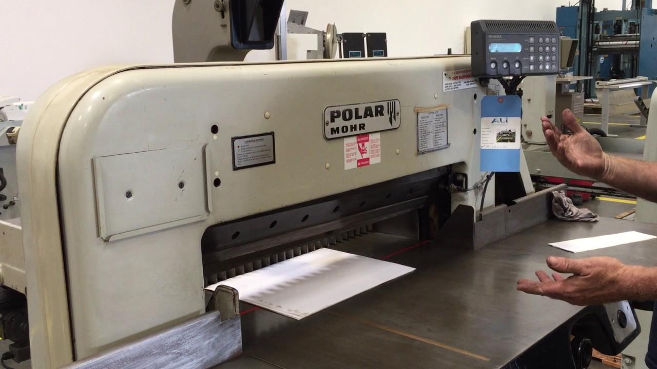 polar 82 st cutter ali 103951 youtube rh youtube com Polar 115 EMC Polar 115 XT at Manual