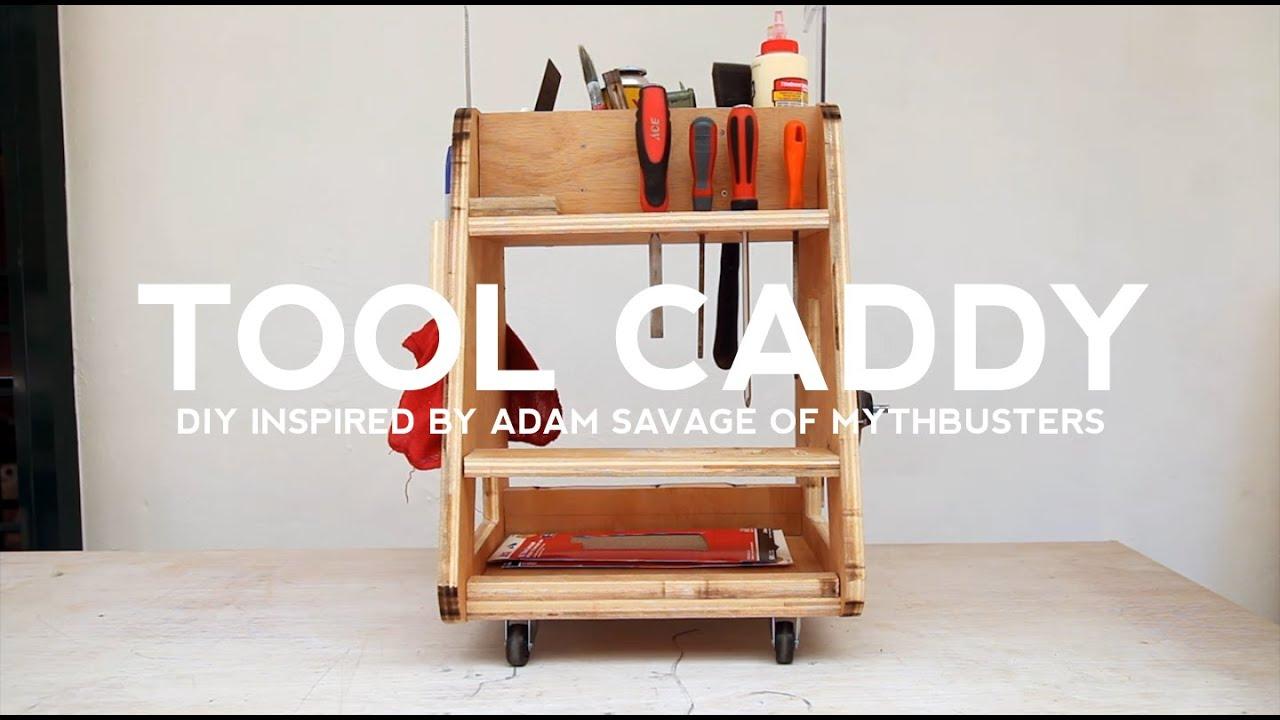 diy tool caddy: inspiredadam savage of mythbusters