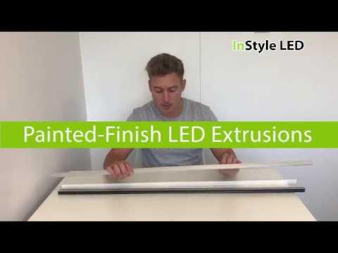 Painted-Finish LED extrusions (White, Black, Aluminium)