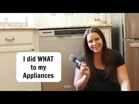 How to Paint Appliances// Liquid Stainless Steel