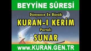 BEYYİNE Suresi - Kurani Kerim oku dinle video izle - Kuran.gen.tr