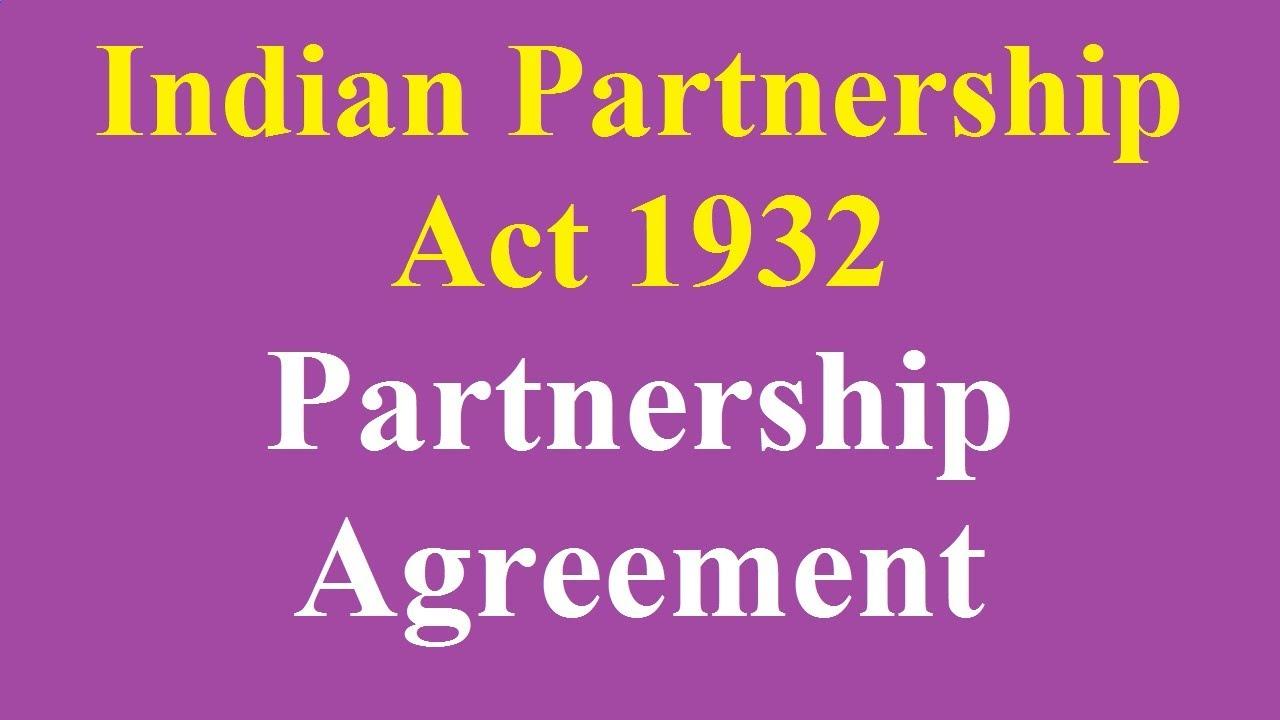 1 Partnership Agreement Youtube