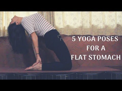 Yoga Poses For A Flat Stomach | 5 Yoga Exercises To Reduce Belly Fat Quickly | WORKitOUT