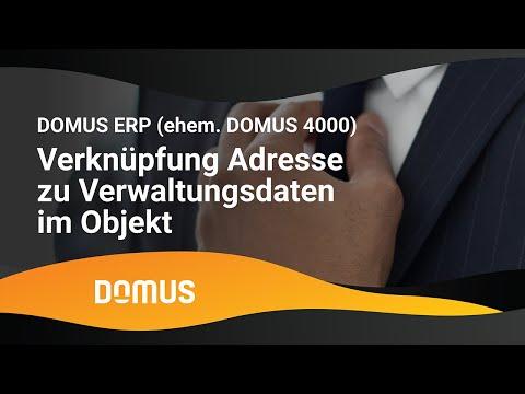 DOMUS 4000 - Verknüpfung Adresse zu Verwaltungsdaten im Objekt