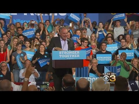 Democratic VP Candidate Tim Kaine Wraps Up Pa. Campaign Tour