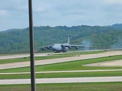 C-5 Galaxy Landing At CRW, Yeager Airport, Charleston WV