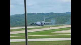 C-5 Galaxy Landing at CRW, Yeager Airport, Charleston WV