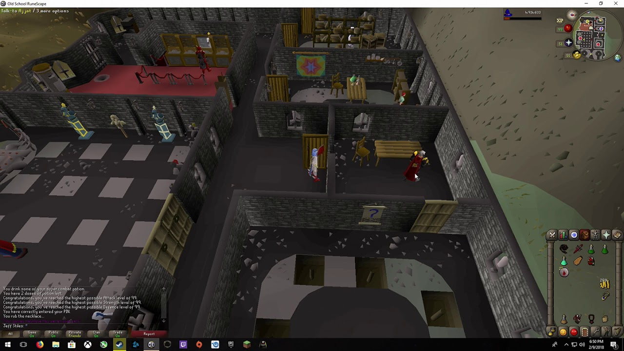 OSRS Getting 99 Attack Strength And Defense In One Hit