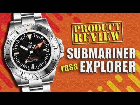 HOMAGE ROLEX SUBMARINER RASA EXPLORER II : Review Jam Tangan OCEAN X SHARKMASTER-V ( VSMS551 )