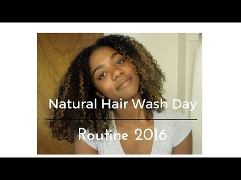 Natural Hair Wash Day Routine 2016  Plus Deep Conditioner Recipe