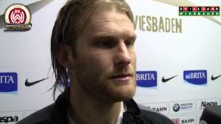 [SVWW] Nico Herzig nach dem Spiel gegen Burghausen [SV Wehen Wiesbaden]
