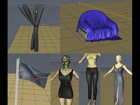 Tutorial Cinema 4D - Cloth e Cloth Belt (modelagem de roupas, cortinas e tecidos).