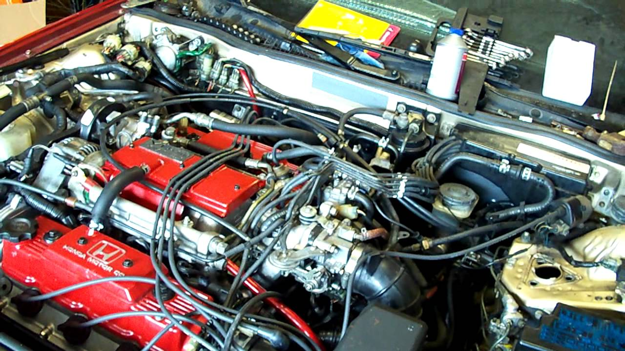 Starting Acura Legend 2 7l Rebuilt Motor Youtube