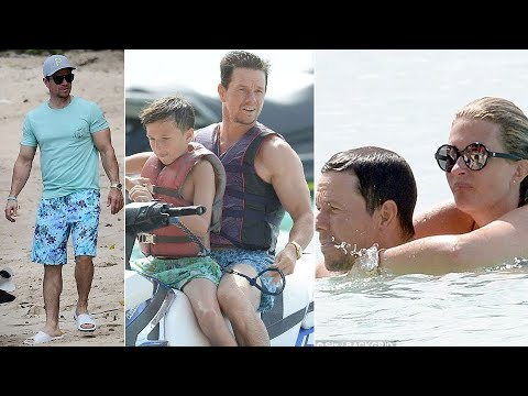 Mark Wahlberg with wife Rhea Durham and their four children on family holiday in Barbados