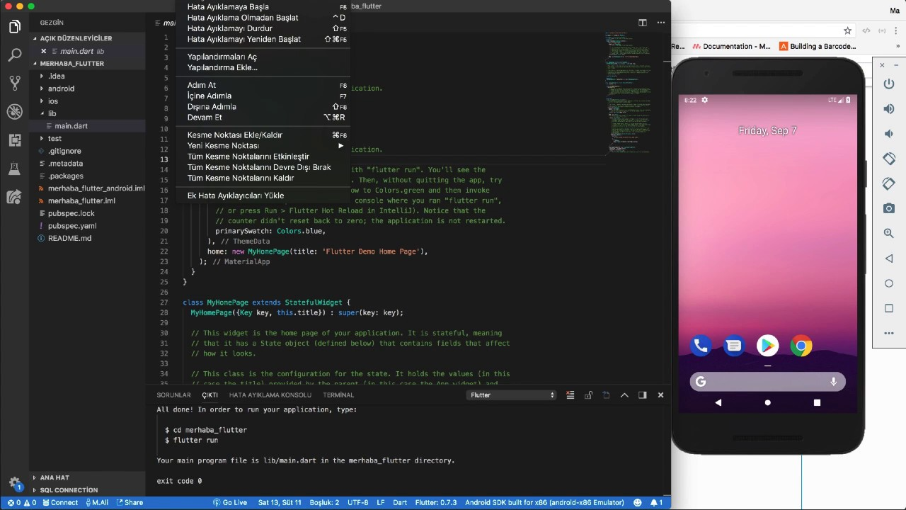 Flutter Visual Studio Code