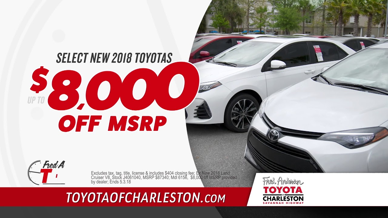 Fred Anderson Toyota Of Charleston   Fred Anderson Time