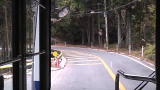 【西日本JRバス】 高雄京北線 栗尾峠 前面展望 (細野→栗尾町付近)