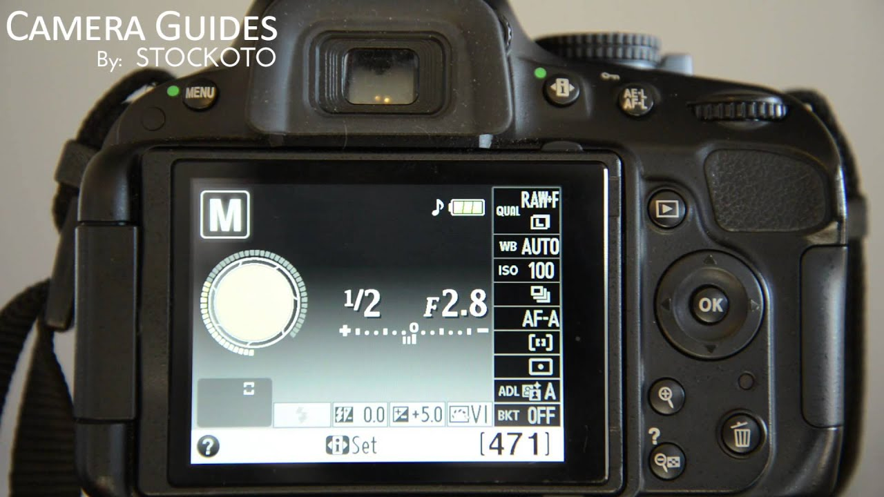 how to set auto focus af point selection on a nikon d5100 d5200 rh youtube com