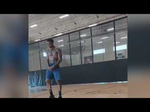 Dwight working on his shooting