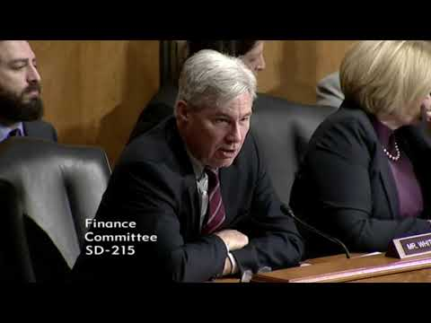 Whitehouse Remarks in Finance Committee on The President's F