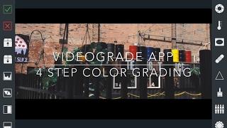 VideoGrade App Color Grade in 4 steps Color Grading Filmic Pro V6 Log