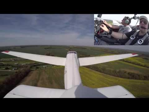 motor glider navigation flight No 34 leg 3 (Enstone-Husbos)
