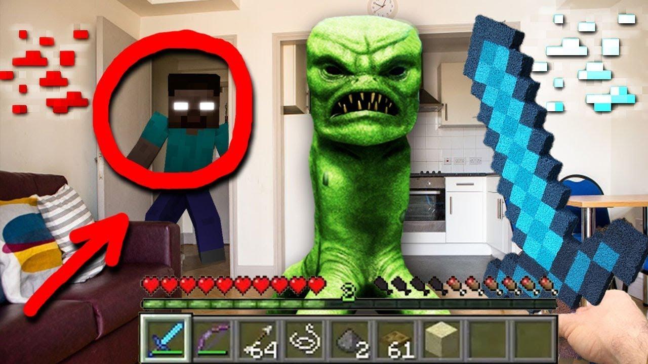 創世神怪物在真實的生活 | 第一集 | Minecraft Mobs In Real Life | 中文字幕 - YouTube