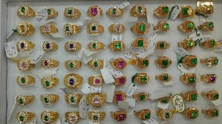 LATEST GOLD GENTS RING DESIGN WITH STONES. GOLD JEWELLERY GENTS RINGS. JEWELLERY JODHPUR.