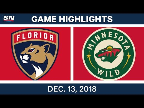 NHL Highlights | Panthers vs. Wild - Dec 13, 2018