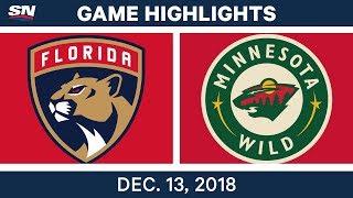 NHL Highlights | Panthers vs. Wild - Dec 13, 2018