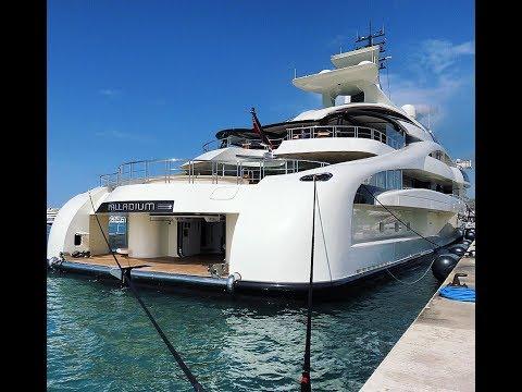 Palladium Mega Yacht  in Marina Ibiza 96m Blohm & Voss