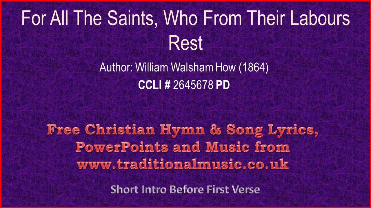 ALL SAINTS Song Lyrics - SONGLYRICS.com | The Definitive ...
