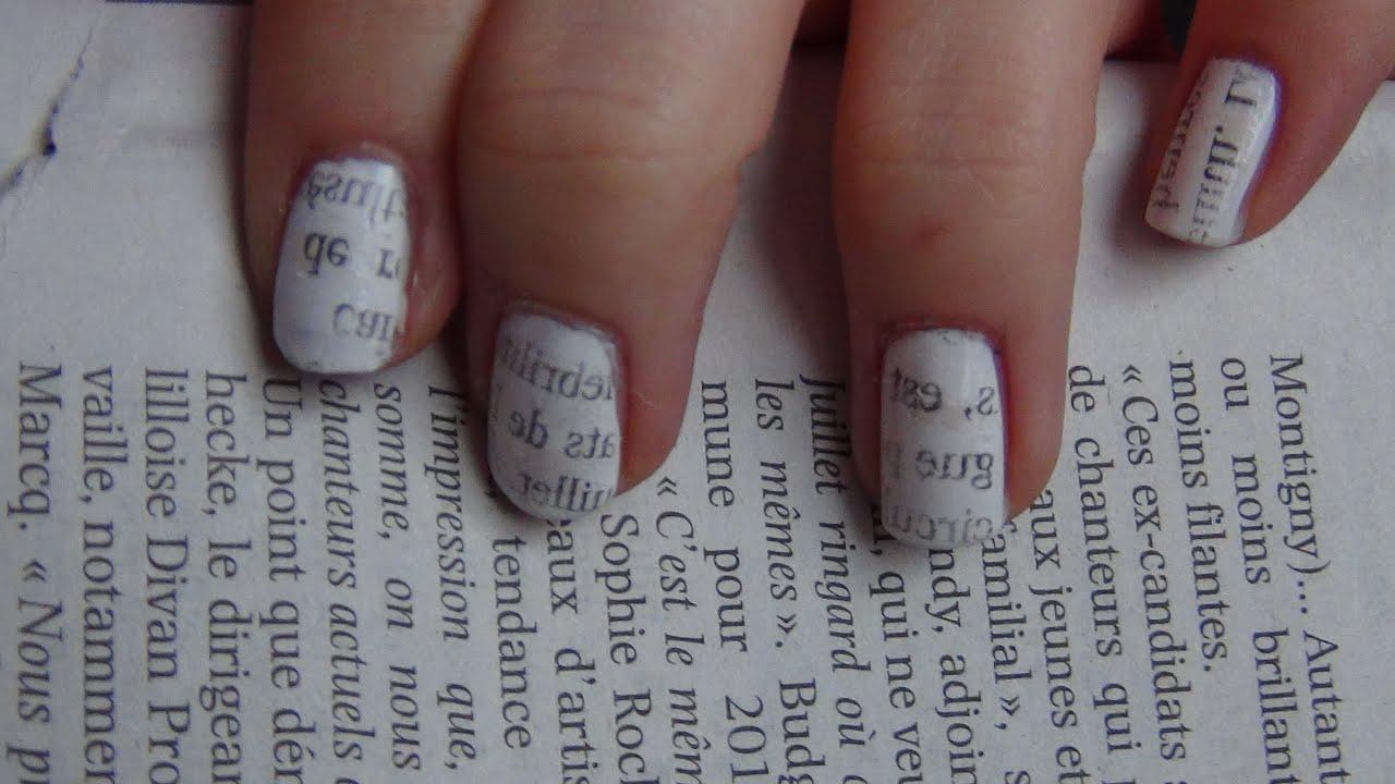 Newsprint Nail Art At Nail Arts And Design Ideas