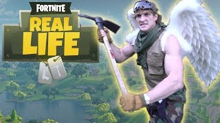 LOGAN PAUL DOES FORTNITE IN REAL LIFE!