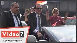 بالفيديو.. طارق علام وأحمد الفضالى يقودان مسيرة