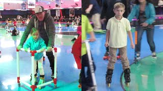 KIDS TRY ROLLER SKATING FOR THE FIRST TIME!