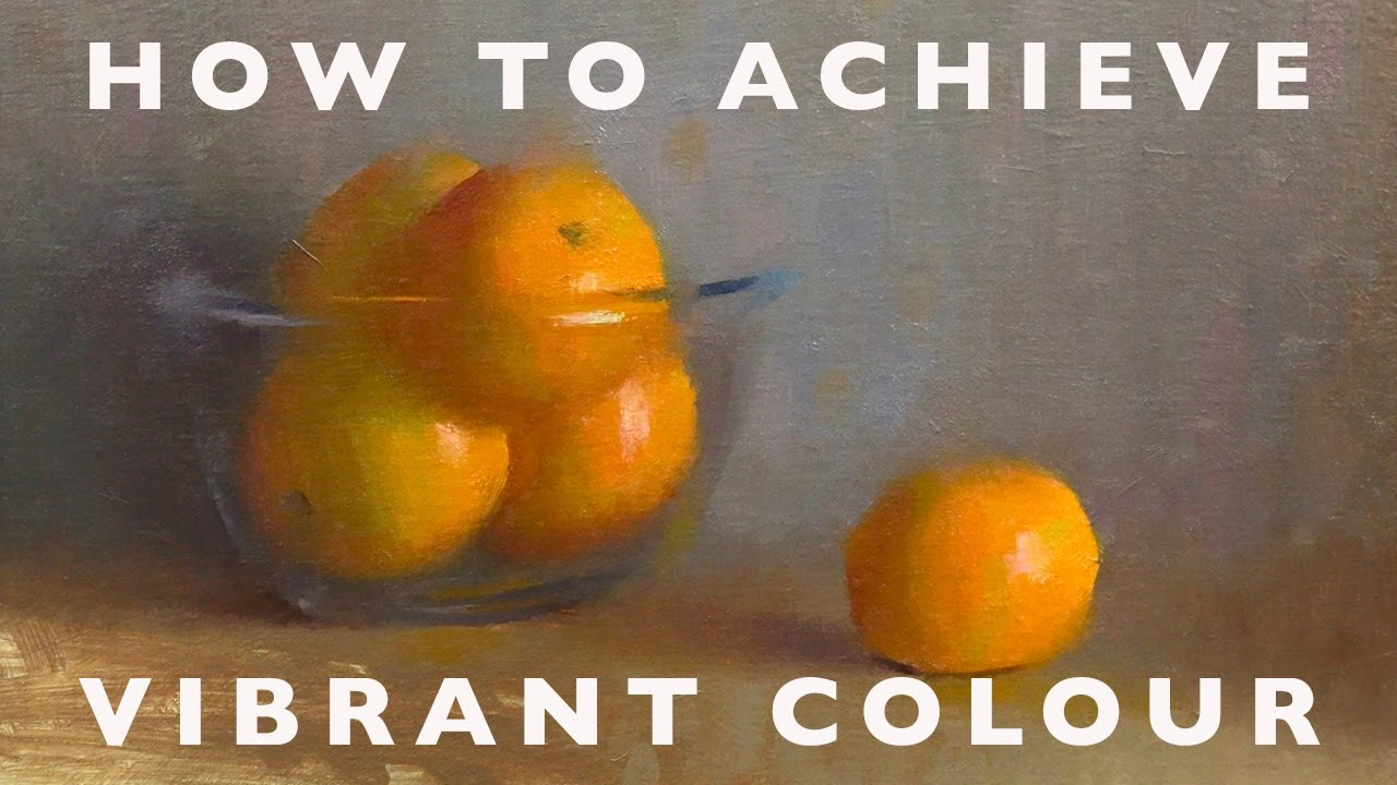 Oil Painting Tutorial - How to Achieve Really Vibrant Colour