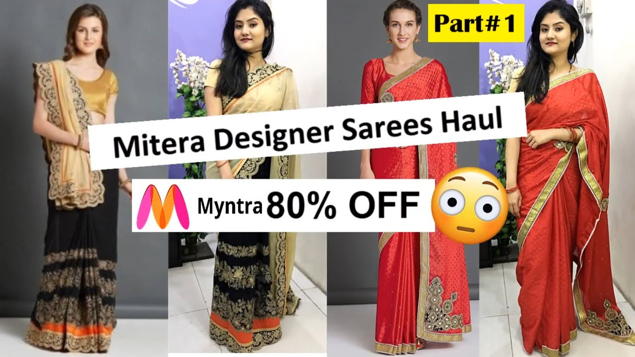 36aa74c06 Myntra Mitera Saree haul | Online Shopping Saree Review| Myntra Sale 80%  OFF | Nikki's Passion – Shopping time