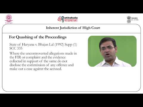 Inherent Jurisdiction of High Court (Law)