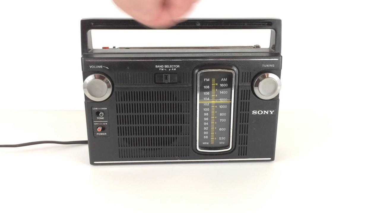 Sony Tfm-7150w Ten Transistor Vintage Portable Radio - Demo For Ebay