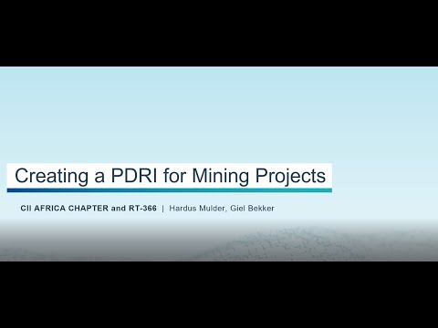 Creating a PDRI for Mining Projects