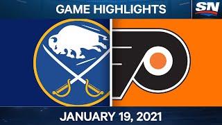 NHL Game Highlights | Sabres vs. Flyers - Jan. 19, 2021