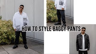 OUTFIT INSPO: baggy pants lookbook | How to style baggy pants | Wie man Baggyhosen stylt