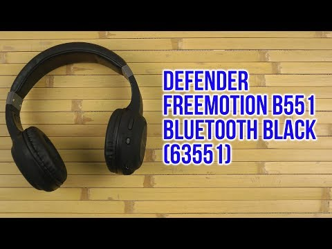 Распаковка Defender FreeMotion B551 Bluetooth Black 63551