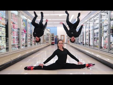 GYMNASTICS IN GROCERY STORE!