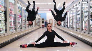 GYMNASTICS IN GROCERY STORE! thumbnail