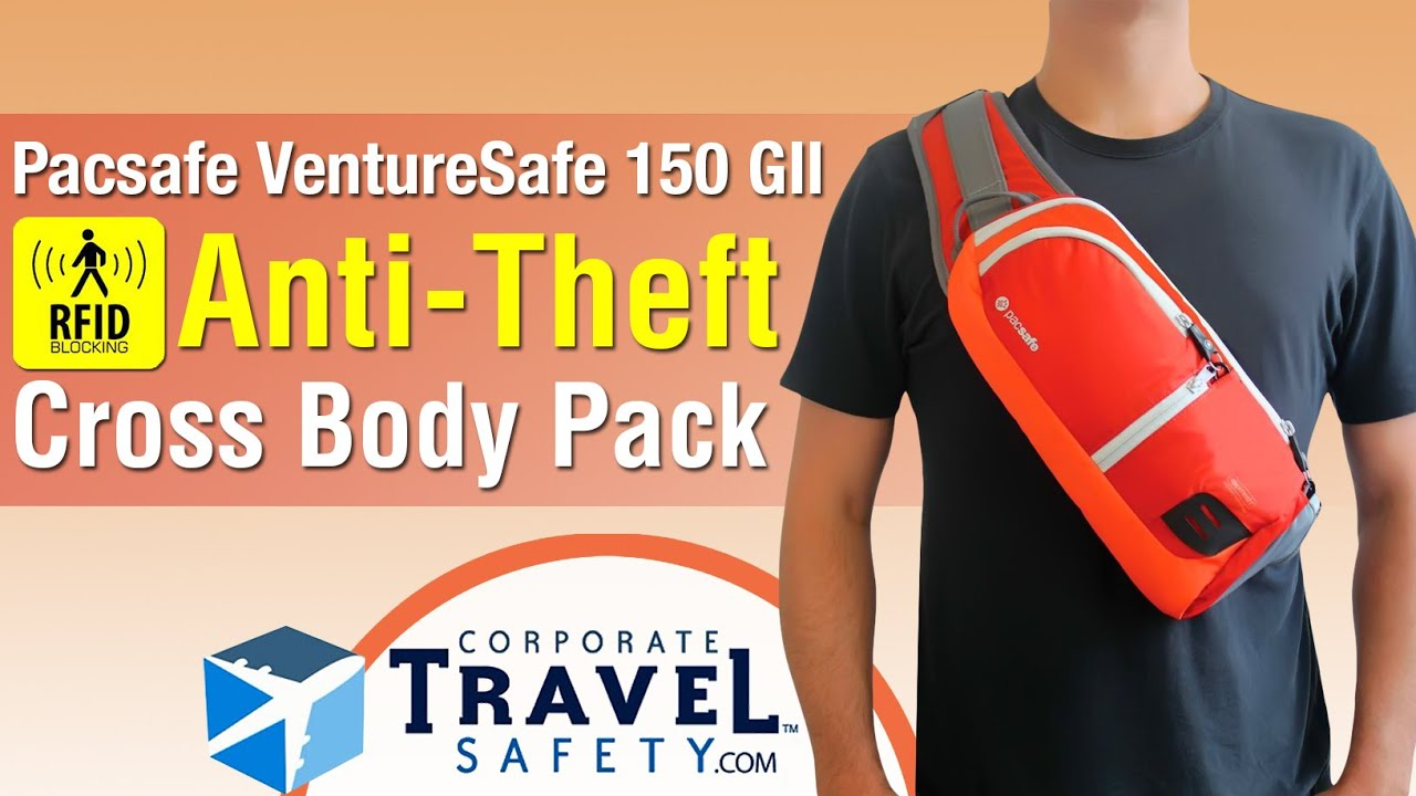 Pacsafe VentureSafe 150 Cross-Body Security Bag - YouTube