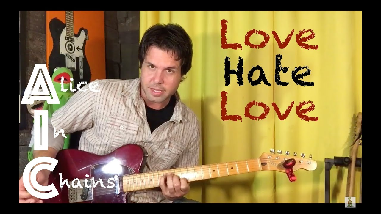 Guitar Lesson How To Play Love Hate Love By Alice In Chains Youtube