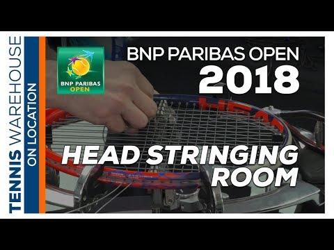 BNP Paribas Open 2018: Behind the scenes Head Stringing Room