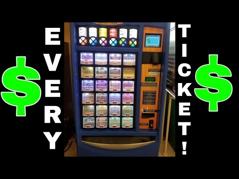 BOUGHT EVERY TICKET IN THE MACHINE! TEXAS LOTTERY SCRATCH OFF TICKETS